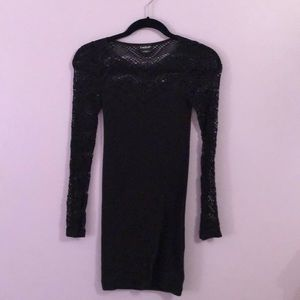 Bebe long sleeve bodycon dress